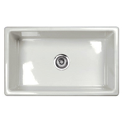 "Shaws 30"" Classic Shaker Modern Single Bowl Undermount Fireclay Kitchen Sink"