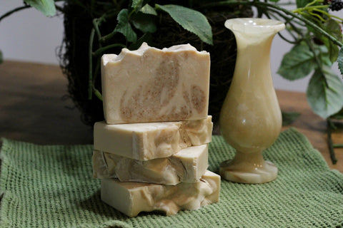 Almond Soap with Ground Walnut Shells