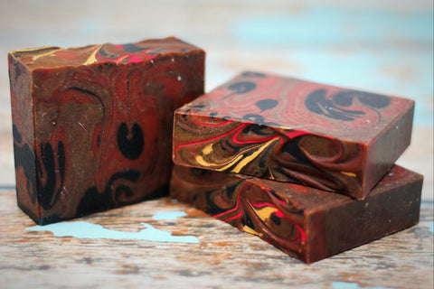 Exfoliating Soap: Dragon's Blood Soap w/ Ground Apricot Seeds