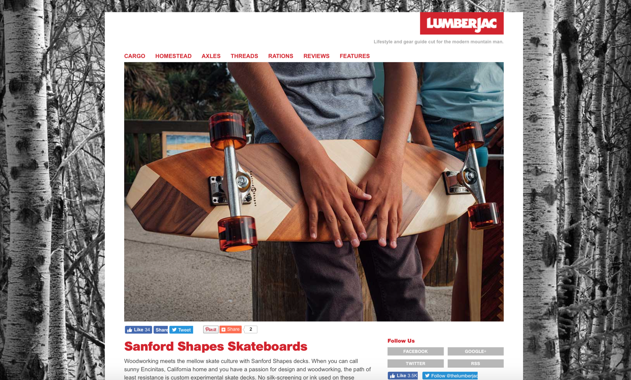 Sanford Shapes featured on Lumberjac.com
