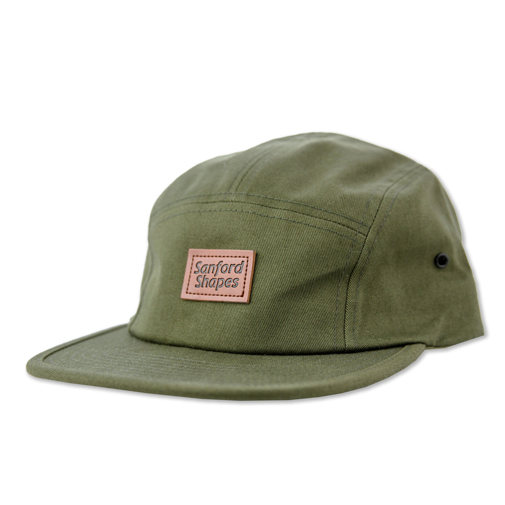 5 PANEL FAUX LEATHER : FORREST GREEN
