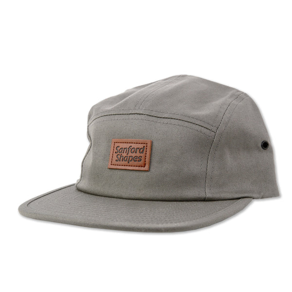 5 PANEL FAUX LEATHER : GREY