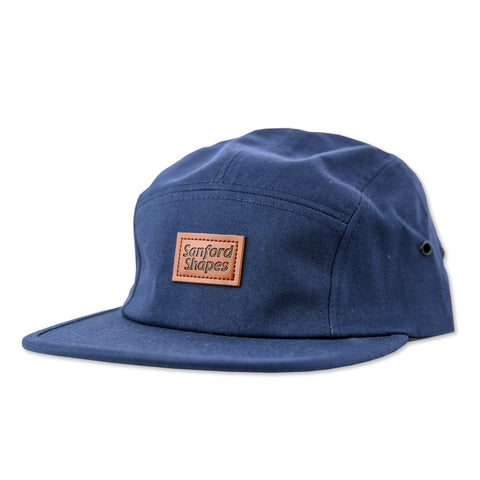 5 PANEL FAUX LEATHER : NAVY