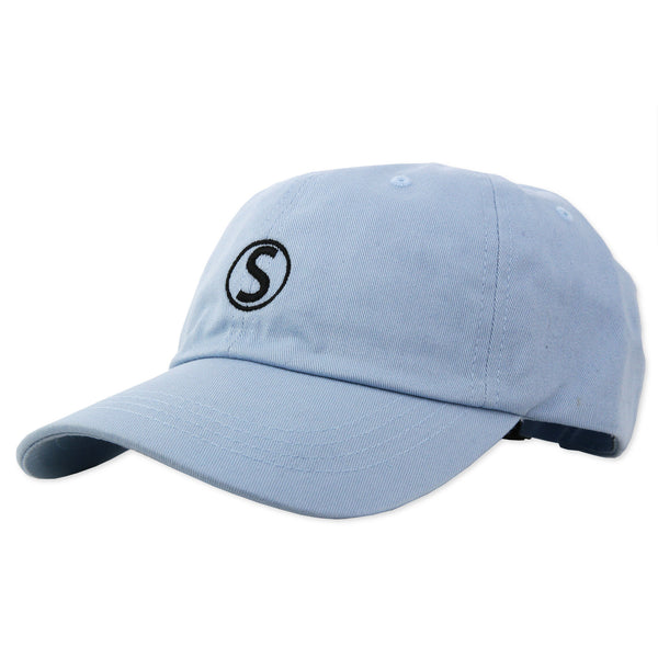 DAD HAT EMBROIDERED : LIGHT BLUE