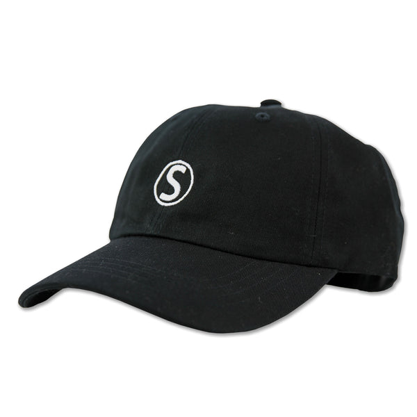 DAD HAT EMBROIDERED : BLACK