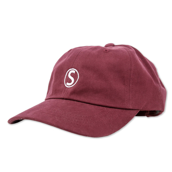 DAD HAT EMBROIDERED : CRANBERRY