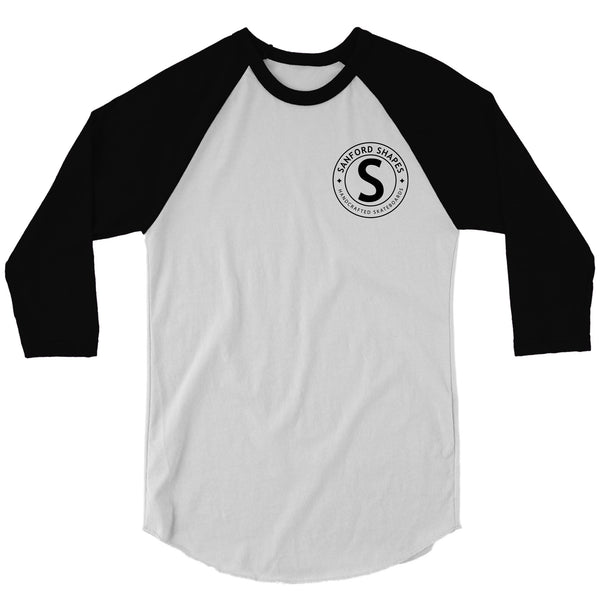 3/4 Sleeve White/Black