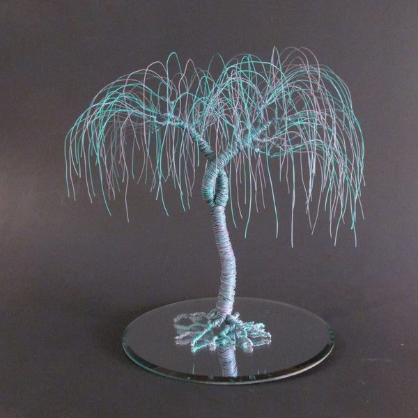 "Custom Color Wire Tree Wedding Cake Topper ""When Two Become One"""