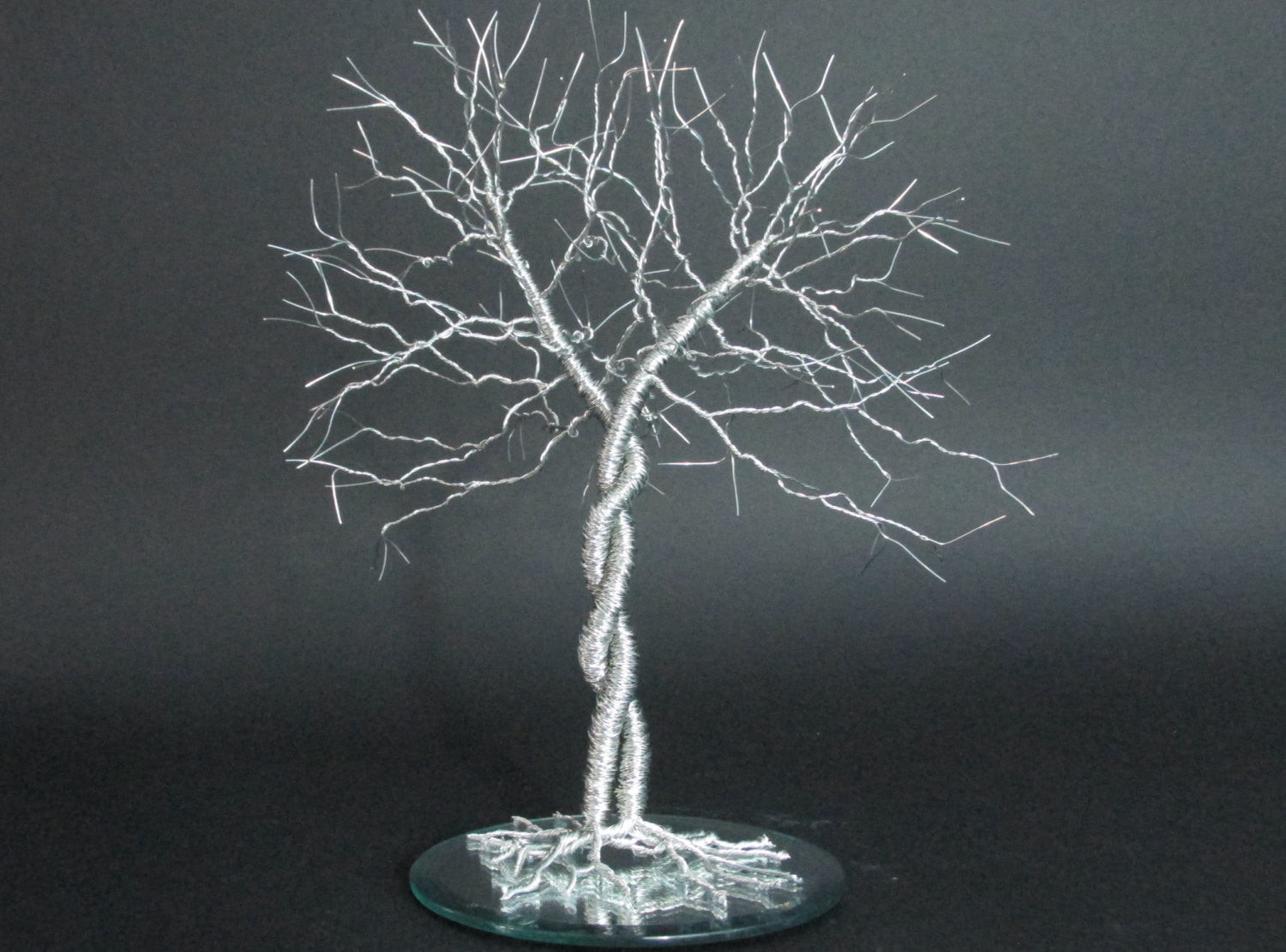 "Unique Wedding Cake Topper ""Entwined""  ~ Wire Tree Wedding Cake Topper ~ Very Unique"