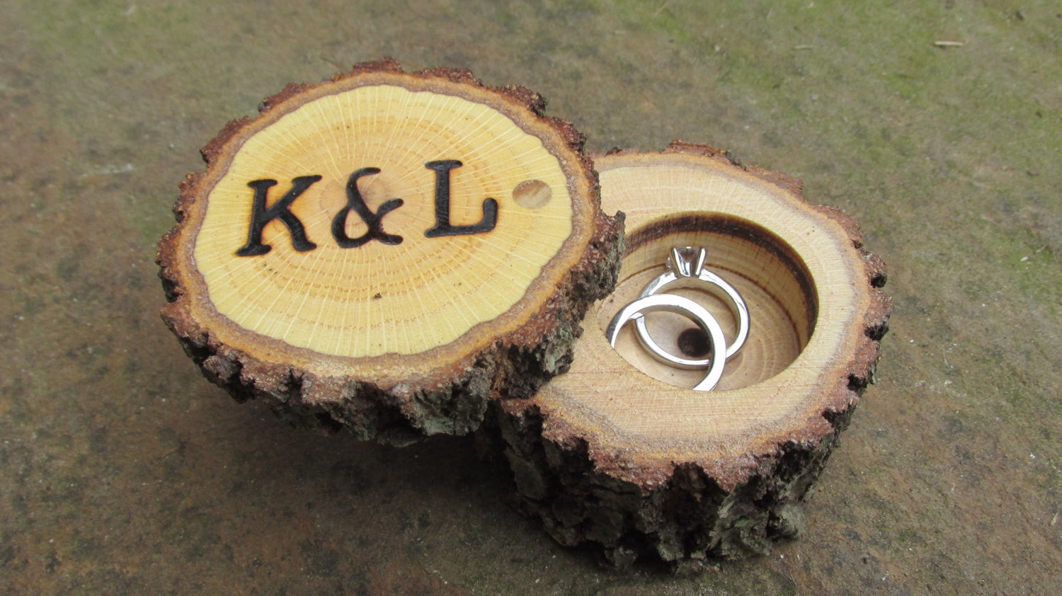 Rustic Ring Bearer Box | Ring Bearer Ring Box | Rustic Wedding Ring Box