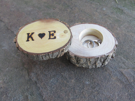 Elm Ring Box | Ring Holder | Ring Pillow Alternative | Wedding Gift | Engagement Gift | Wedding Ring Holder