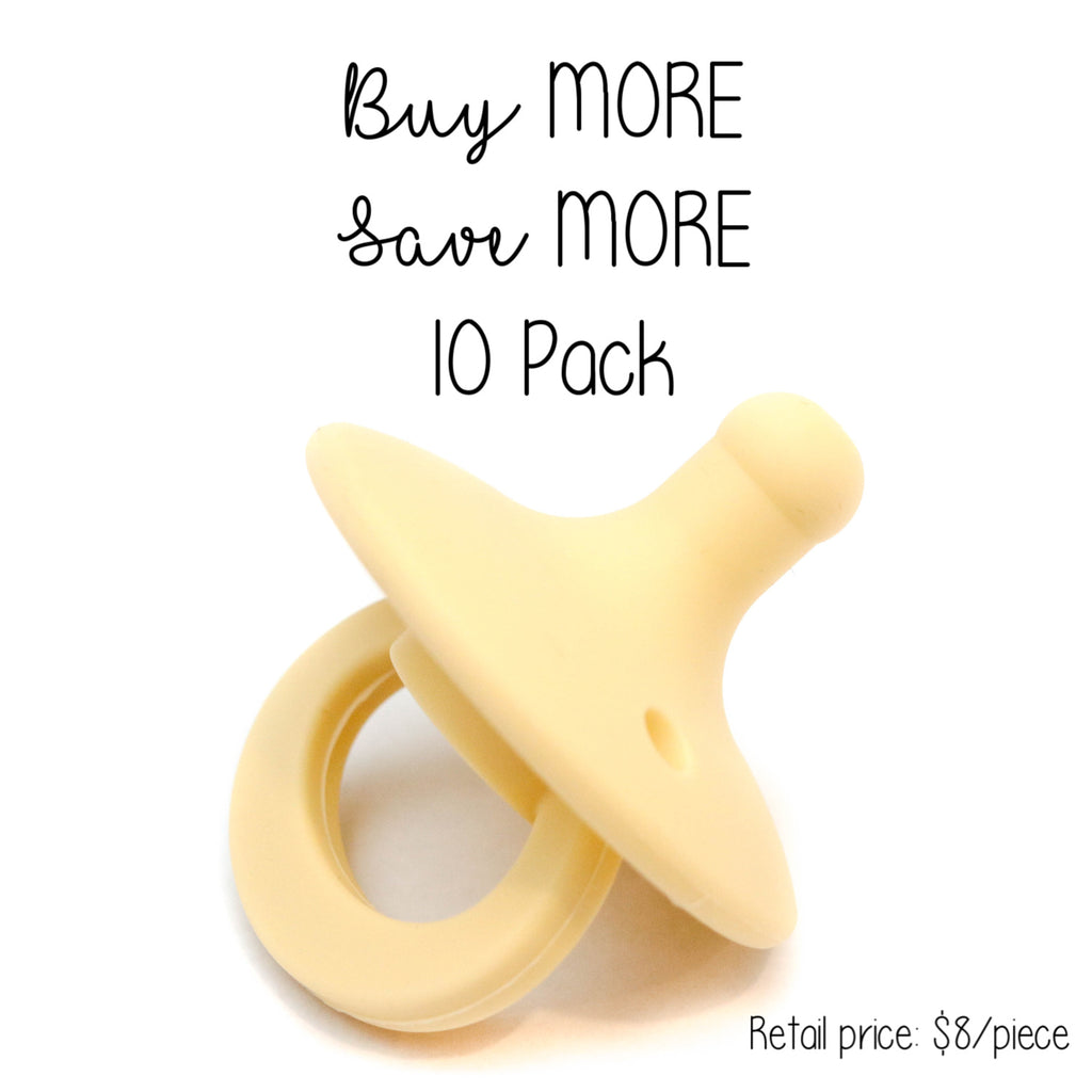 10 Pack OLI pacifier - BUTTERCUP - Getting Sew Crafty