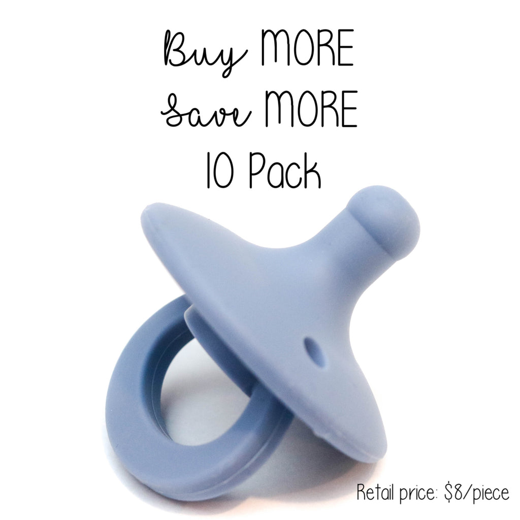 10 Pack OLI pacifier - HYDRANGEA - Getting Sew Crafty
