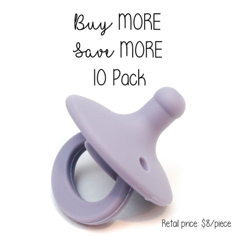 10 Pack OLI pacifier - ORCHID - Getting Sew Crafty