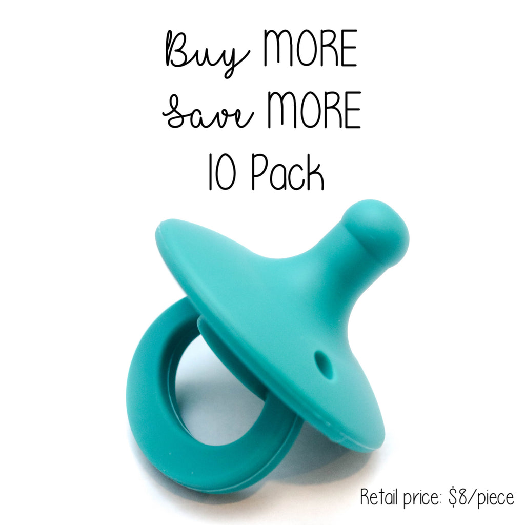 10 Pack OLI pacifier - PEACOCK - Getting Sew Crafty