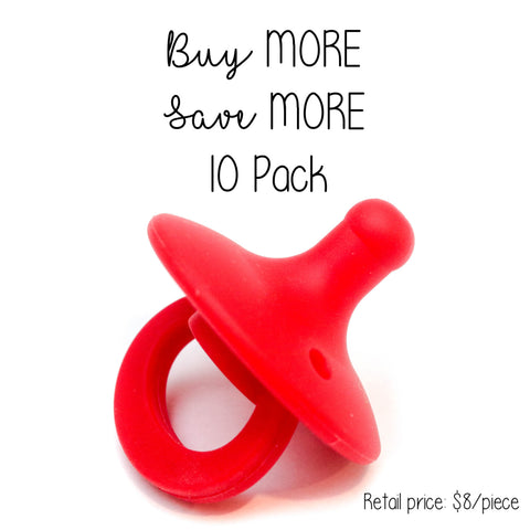 10 Pack OLI pacifier - POPPY - Getting Sew Crafty