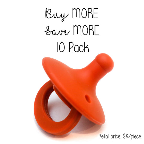 10 Pack OLI pacifier - TERRACOTTA - Getting Sew Crafty