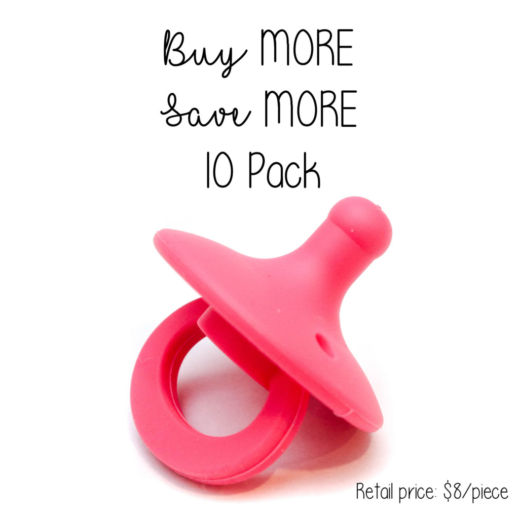 10 Pack OLI pacifier - HIBISCUS