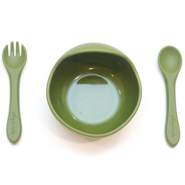 Bowl and Utensil Set - multiple colors available