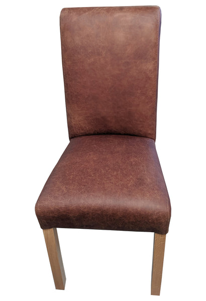 Arundel Ingrassato leather rollback oak chair