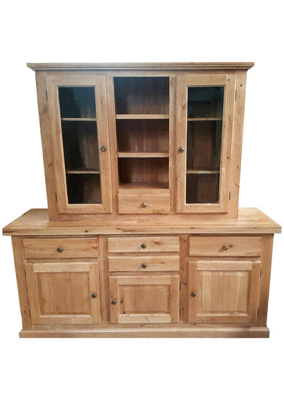 The variation - Four drawer Oak Sideboard with Dresser - Blonde range