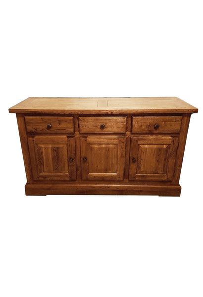 The Three drawer Oak sideboard - Tudor Oak range