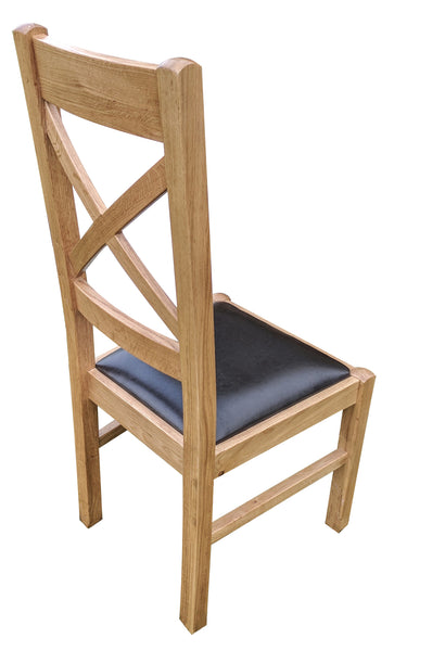 Cross Back Dining Chair - Blonde range