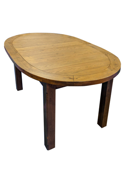 The Empire Oval Extending Dining Table - Tudor Oak range