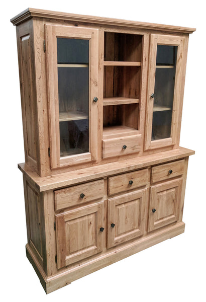 The Three Drawer Oak Sideboard with Dresser - Blonde range