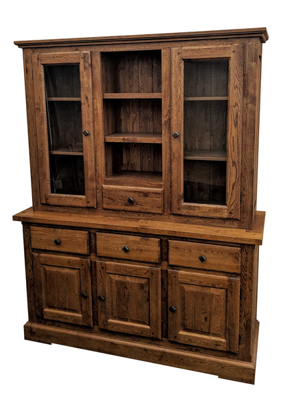 The Three Drawer Oak Sideboard with Dresser - Tudor oak range