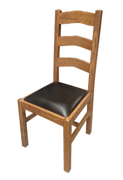 Ladder Back Dining Chair - Tudor Oak range
