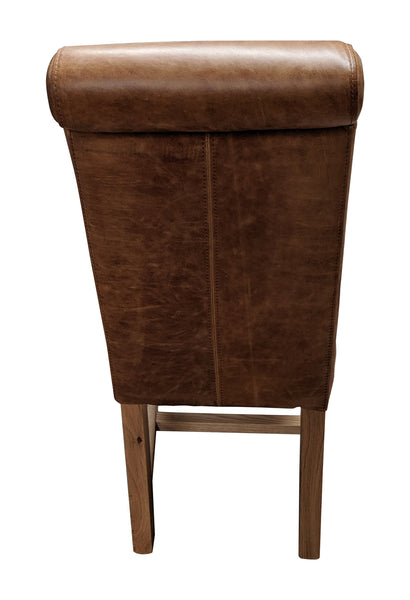 Cerato leather baby rollback and Harris Tweed oak chair