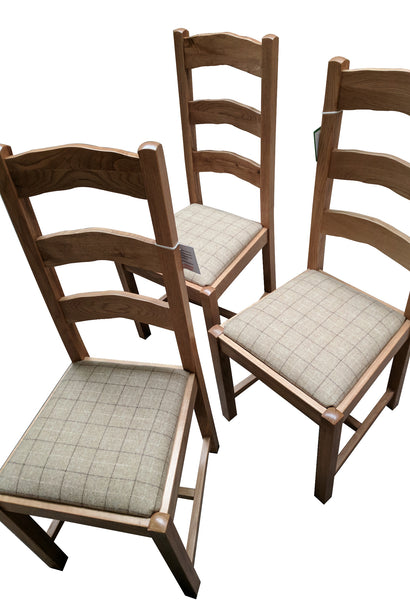 Ladder Back Dining Chair - Blonde Oak range