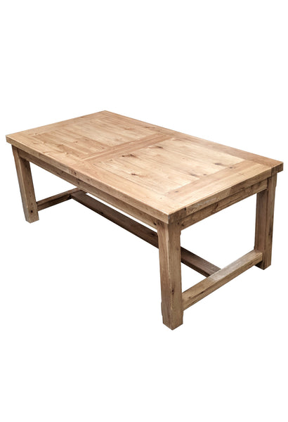Empire Classic Grand solid oak extending dining table - Blonde oak range