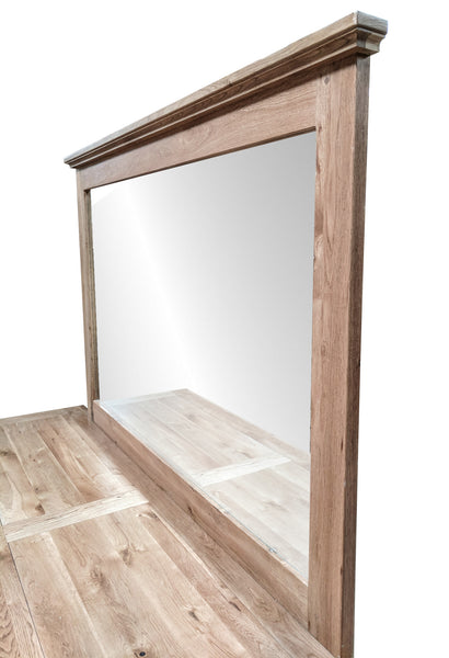The Four drawer Oak Sideboard with mirror - Blonde range