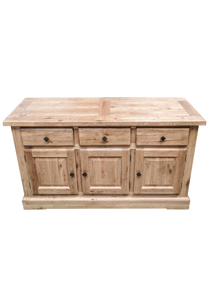 The Three Drawer Oak Sideboard - Blonde range