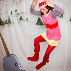 Dawning a homemade Jovie the Elf costume I served spaghetti to the guests with syrup being an optional topping (you should try it it kind of tastes like ...  sc 1 st  Party At Your Door & Our People | Party At Your Door | Custom Party Creations for Every ...