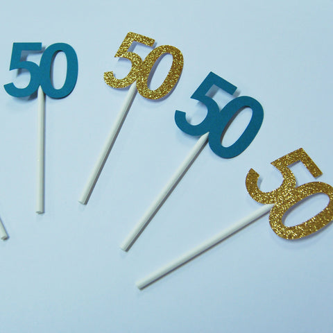 50th Birthday Cupcake Toppers on Pinterest