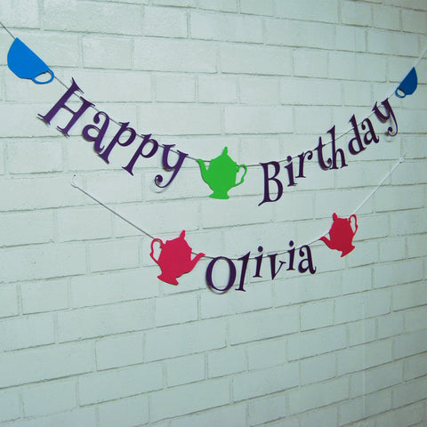 Alice in ONEderland Birthday Banner