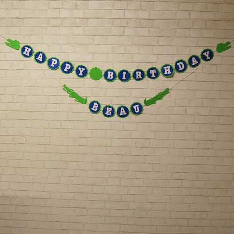 Alligator Birthday Banner
