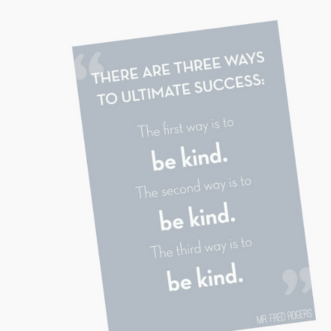 """Be Kind"" Print On Pinterest"