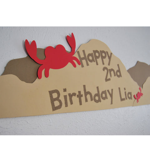 Crab Birthday Sign
