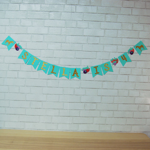 Berry Magical Unicorn Birthday Banner