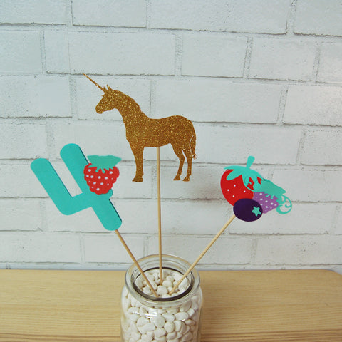 Berry Magical Unicorn Centerpiece