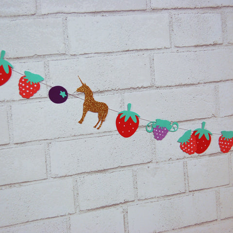 Berry Magical Unicorn Garland