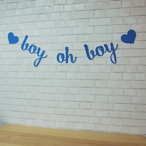 Boy Oh Boy Baby Shower Banner