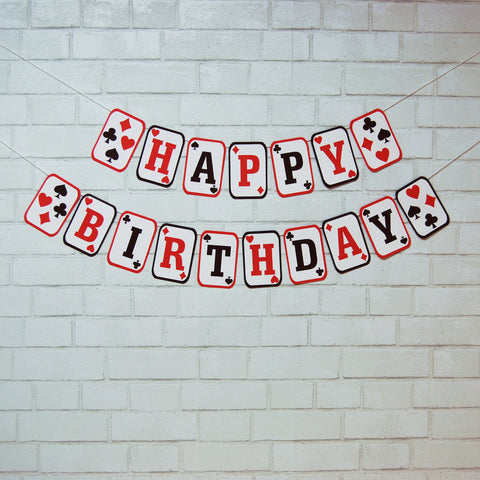 Casino Style Card Birthday Banner
