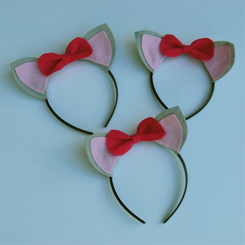 Cat Ear Headbands on Pinterest