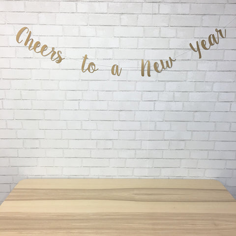 """Cheers To A New Year"" New Year's Eve Banner"
