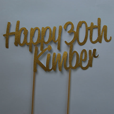 """Happy 30th"" Cake Topper"